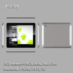 """9.7"""" Tablette PC Android 4.1 WiFi+3G+Bluetooth Dual Core (V-9709)"""