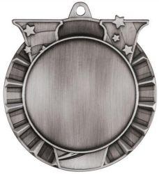 Bespoke Antique Medalha de acabamento em prateado com fita