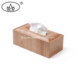 Serviette de table de cuisine rectangulaire artisanal en bois Zone Couverture détenteur de tissus pour salle de bains