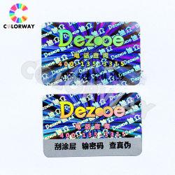 L'art de la carte de loterie à gratter de papier hors de l'impression
