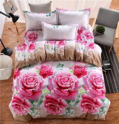 Venda por grosso de cama impressos, Barato/moderno/Fashion Lençol Set/roupas de cama/banho extras Definir 3D 100% Roupa de poliéster