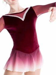 빙상 스케이트 경기 복장 소녀 직업적인 무도실 여자의 복장 성과 착용 Dresswholesale