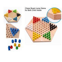 Niño adulto de juguete de madera de la Junta de damas Juego de ajedrez Hexagonal de interacción (GY-W0005)