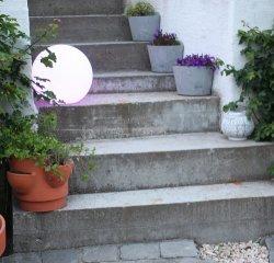 La bola luminosa LED lámpara, la decoración del paisaje de la luz de jardín de césped, creativo, en el exterior de la lámpara esférica bola luminosa impermeable