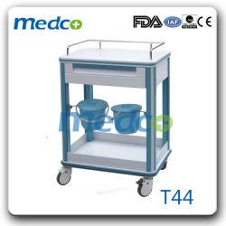 Medical ABS Krankenhaus Kunststoff Stahl Behandlung Wagen Trolley mit Abfall Behälter