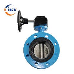 연성 주철 플랜지 기어박스 중심 플랜지 버터플라이 밸브