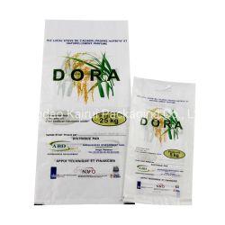 Protection contre les UV réutilisables 25kg l'impression de la conception des emballages de riz en plastique