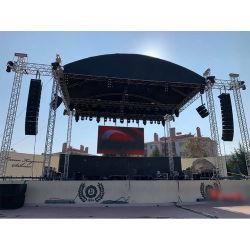 야외 휴대용 전시회 콘서트 이벤트 웨딩 스테이지 조명 쇼 스피커 곡선 루프 LED 디스플레이 트러스 TUV SGS가 있는 알루미늄 트러스 CE