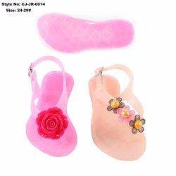 Chaussures femmes sandale de gelée en PVC