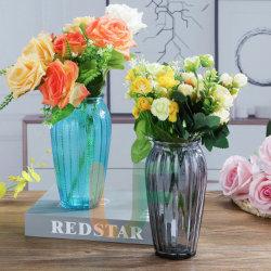 Floreros de vidrio coloreado con muchos diseños la decoración del hogar cristal coloreado Jarrón de flores
