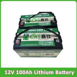 De diepe ZonneBatterij van het Pak van de Batterij van de Batterijen LiFePO4 van het Lithium van de Batterij 12V 100ah van Li van de Cyclus Ionen Navulbare Ionen met BMS