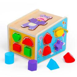 2020 [وهولسل سل] خشبيّ حيوانيّ شكل نوع حالة, لغة روضة الأطفال لعب لأنّ 3+ جديات