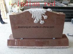 Pierre tombale de granit rouge indien, monument de style occidental et la Russie & objet tombstone