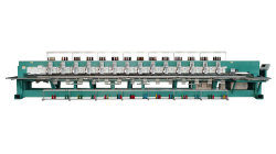 Klopfende einzelne doppelte Hauptstickerei-Maschinen-multi Funktions-flache Kleid-Hut-Stickerei-Hauptmaschinen-Mischtuch-Stickerei-Mischmaschine