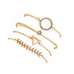 2018 Bracelet de promotion des femmes à la main charme personnalisé Fashion Bracelets charme simple plaqué or Bijoux Bijoux Bracelet de mode