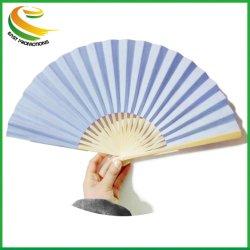 Les fans de plaine de pliage de papier artisanal de gros ventilateurs, ventilateur de bambou