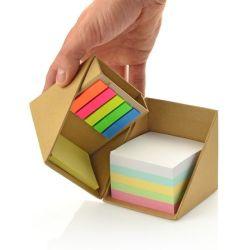 Appunto quadrato pieghevole del cubo, casella stabilita della nota appiccicosa di alta qualità