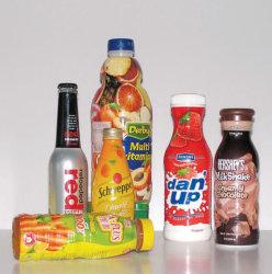 Design de PVC barata mangas termo-retrácteis de etiquetas para garrafas de bebidas