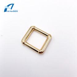 Fashion Style Simple Square SAC SAC en métal Accessoires de boucle boucle décorative