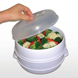 2 Plastic Kooktoestel van de Stoomboot van de Deegwaren van de Vissen van de Rijst van de Stoomboot van de Microgolf van de rij het Plantaardige