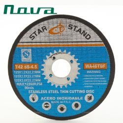 Il taglio di lucidatura stridente ha tagliato la ruota a disco abrasiva per metallo inossidabile