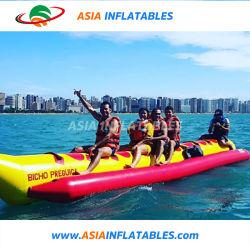 Größe Belüftung-Plane-aufblasbares Bananen-Boot für Verkauf anpassen