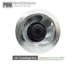 280мм DC электронные назад центробежные вентиляторы для вентиляции