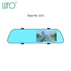 Carro gravador DVR, Vídeo Frente & Espelho Retrovisor, visão nocturna com função de câmara HD, LCD de 4,3 polegadas, Q10-A1