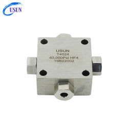 Modèle Usun : T6024 60K psi en acier inoxydable de haute pression traverse l'adaptateur pour machine à jet d'eau