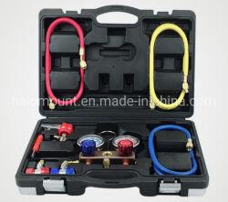 자동 수리 툴 R 134a 고급 환경 냉매 이중 테이블 검은색 도구