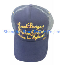 자신의 로고 트럭 운전사 야구 모자 면 능직물 6 위원회 황급한 3D에 의하여 수를 놓은 아플리케 트럭 운전사 모자를 후에 주문 설계하십시오