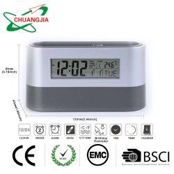 Цифровой будильник с держатель пера отложенный повторный сигнал таймера для домашнего офиса