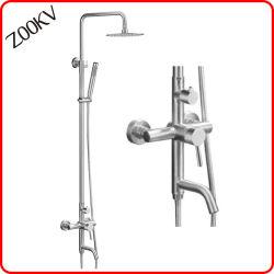 304 Edelstahl-Bad-Toiletten-Befestigungs-Zubehör-Regen-Niederschlag-Handkopf-Hahn-gesetztes Spalte-Panel-Dusche-Panel-Badezimmer-Set