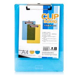 A4 Bureau de dépôt en plastique pavé d'écriture presse-papiers avec règle AC1078
