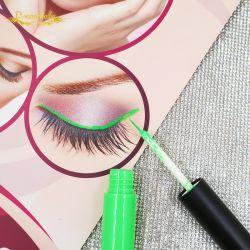 Pigmento altamente Eyeliner de plata de etiqueta privada coloridos Eyeliner resistente al agua de color Eyeliner líquido 8 4D de fibras de seda Mascara