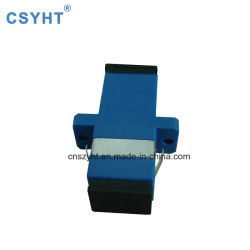 Sc Simplex Sm Fiber optic adapter la couleur bleue
