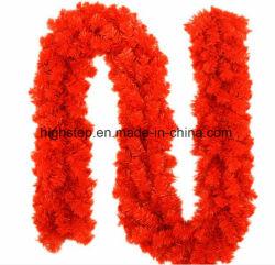 Рождество Гарланд, 9 футов длины, цвет: красный