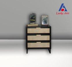 Tiroir de bambou avec cabinet de la peinture en bois noir plateau table