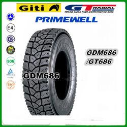 Gt Radial Giti / / marque de pneus de camion Primewell 315/80R22.5 315 80 22,5 315 / 80 R22.5 gdm686 GT686 Les pneus de camion réalisés dans l'Indonésie pour la traction exceptionnelle