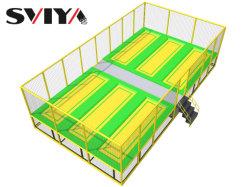Commerce de gros pour les enfants de maternelle préscolaire 6 lits trampoline extérieur