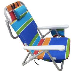 Presidenza di alluminio piegante portatile dello zaino della spiaggia di svago esterno con il sacchetto più freddo