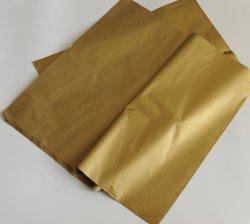 Carta da imballaggio metallica stampata del regalo dell'oro