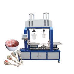 La mejor calidad precio muy atractivo 2 de silicona de color de la máquina de impresión por tampografía la tampografía para cerámica cuchara Bowl