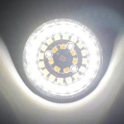 Rifornimento della fabbrica bianco ed indicatore luminoso di giro giallo di Harley che esegue l'indicatore luminoso giallo-chiaro dell'automobile bianca Indicatore-Esterna dell'anello (24LEDs) LED
