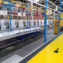 Guía de aluminio automático Triple velocidad Transportador de cadena de la línea de montaje de la máquina lavadora con la línea de paquete de prueba y