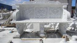 Table de pierre sculptés à la main en marbre & banc banc (FX 001)