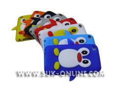 Couvercle en silicone de protection de style Pingouin de cas pour iPod Touch 4 4e (SIT4008)