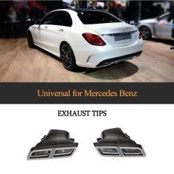 Conseils d'échappement en fibre de carbone universel pour le BENZ Mercedes