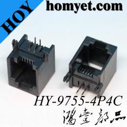 De hete Schakelaar van de Contactdoos van PCB van de Rechte hoek van de Verkoop 4p4c Rj11 6p4c Plastic Rj11