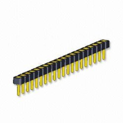 1.778mm 피치 맞춤형 공장 보드와 기판 단자 설계 핀 헤더 SIP 소켓 커넥터